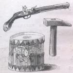 Пистолет, молоток, барабан