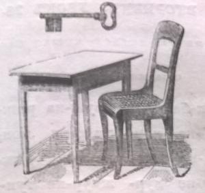 Ключ, стол, стул, мебель