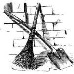 Лопата, метла