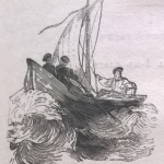 Матросы, лодка, море
