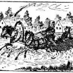 Повозка, лошади, люди