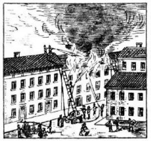Город, пожар