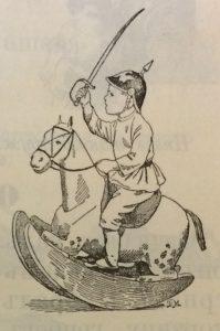 Мальчик, лошадка, сабля, игра