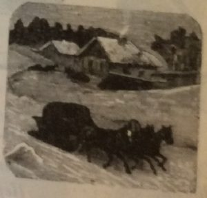 Зима, дом, дома, лошади