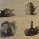 Горшок, чайник, кофейник, ведро, рюмка, сито, графин, ложка