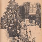Девочка, елка, комната, окно, подарки, новый год